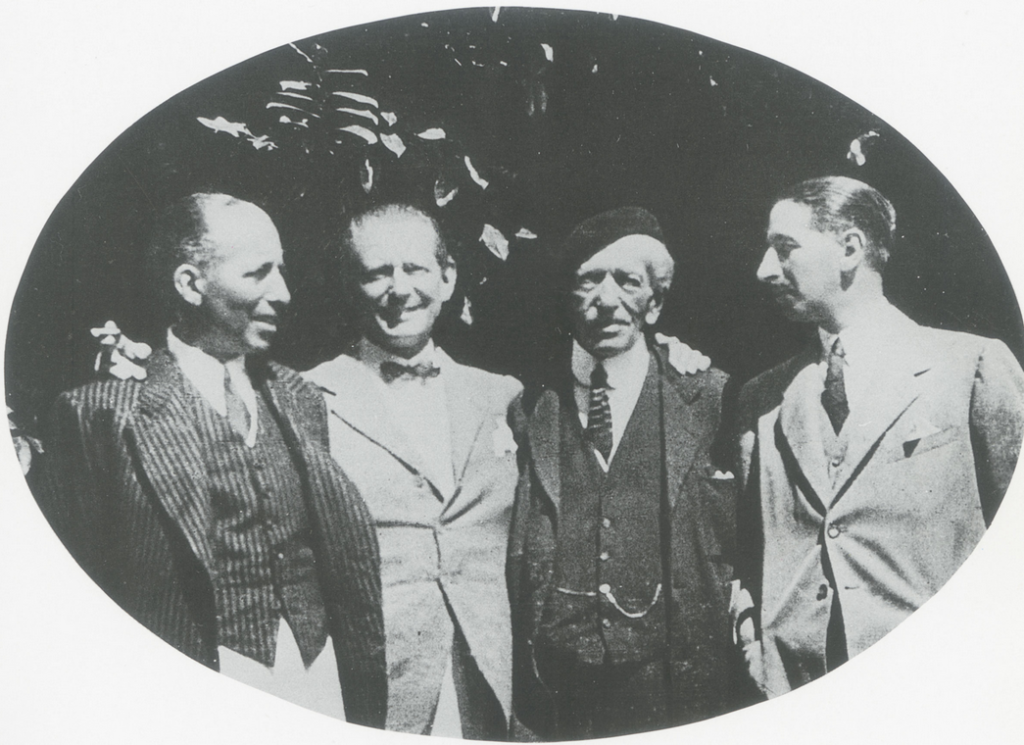 Alfred Cartier and his sons: from left, Pierre, Louis, Alfred and Jacques