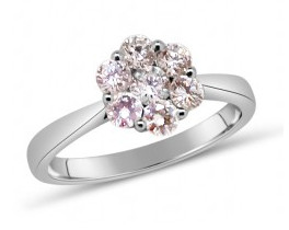 custom diamond rings with white, yellow and pink gold sydney engagement rings