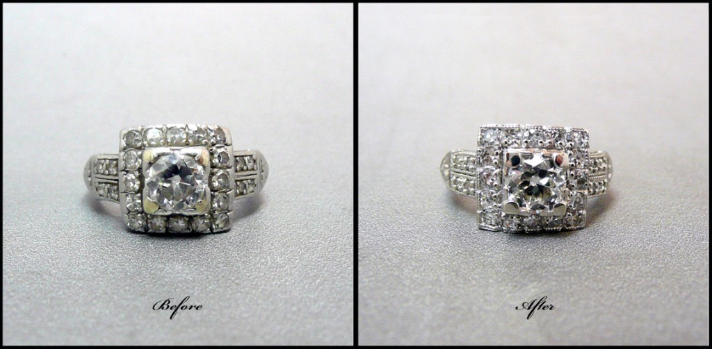 Before and After antique ring restoration